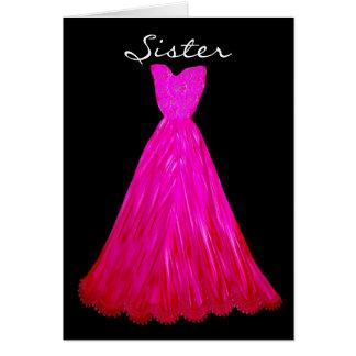 SISTER Be My  Bridesmaid AZAELA PINK  Dress Card