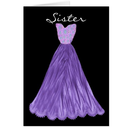 SISTER Be My  Bridesmaid VIOLET  PURPLE Dress Cards