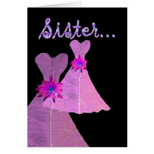 SISTER_ Be My Junior Bridesmaid - Customizable Greeting Card