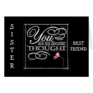 SISTER BEST FRIEND-BEST BIRTHDAY EVER CARD