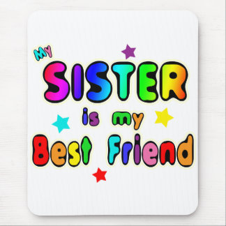 Sister Best Friend Mouse Pad
