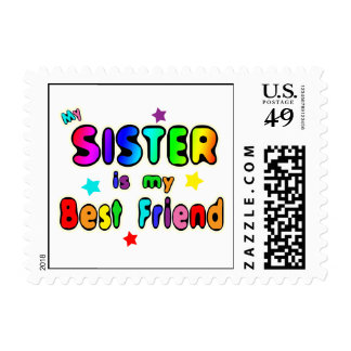 Sister Best Friend Postage Stamps