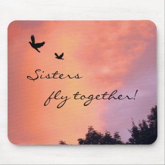 Sister Birds at Sunset Mousepads