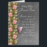 """sister birthday card - birthday card with roses<br><div class=""""desc"""">sister birthday card - birthday card with roses</div>"""