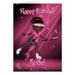 Sister Birthday Card Tennis Player - Tweens & Teen