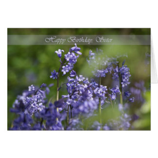 Sister Birthday Card with Beautiful Blue Bells