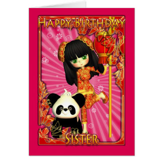 Sister Birthday Card With Moonies Little Cutie Pie