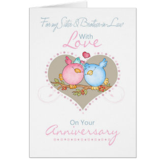 Sister & Brother-in-Law Anniversary Card With Love