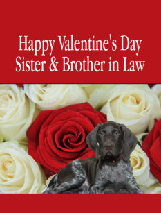 Sister & Brother in Law Glossy Grizzly Valentine Holiday Card