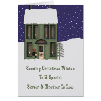 Sister & Brother In Law Primsy House Christmas Card