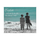 Sister By My Side Beach Scene Canvas Prints