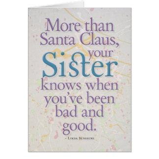 Sister Card (blank inside) Greeting Card