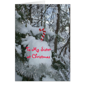 Sister Christmas-Candy Cane Card