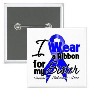 Sister - Colon Cancer Ribbon Pinback Button