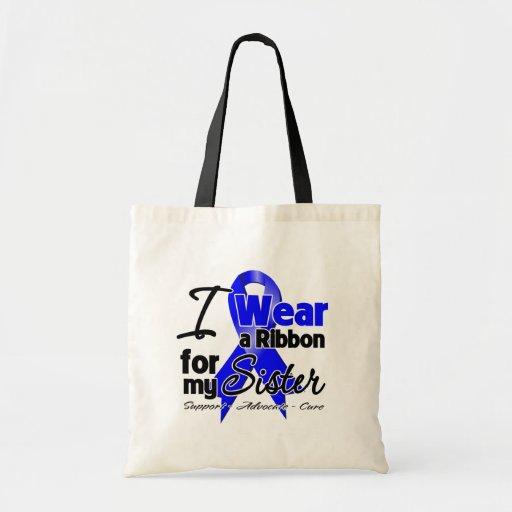 Sister - Colon Cancer Ribbon Tote Bag