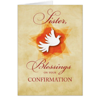 Sister, Confirmation Congratulations Blessings Card