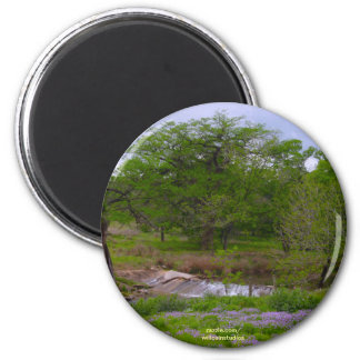 Sister Creek in Spring 2 Inch Round Magnet