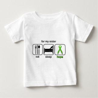 Sister Eat Sleep Hope - Lymphoma Baby T-Shirt