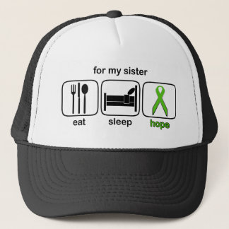 Sister Eat Sleep Hope - Lymphoma Trucker Hat