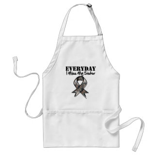 Sister - Everyday I Miss My Hero Military Adult Apron