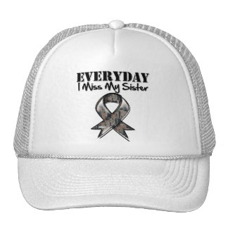 Sister - Everyday I Miss My Hero Military Mesh Hat