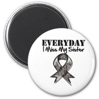 Sister - Everyday I Miss My Hero Military 2 Inch Round Magnet