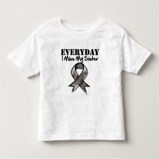 Sister - Everyday I Miss My Hero Military Tshirt