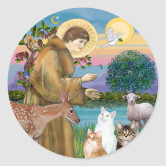 Sister Frances Blessing 5 cats Classic Round Sticker