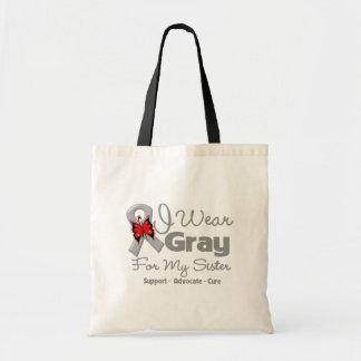 Sister - Gray Ribbon Awareness Tote Bag