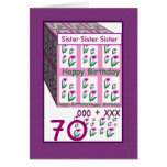 SISTER - Happy 70th Birthday Greeting Cards