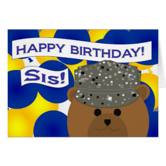 Sister - Happy Birthday Air Force Active Duty! Card