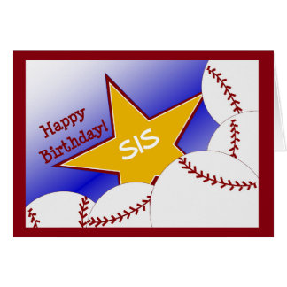 Sister - Happy Birthday to Baseball Loving Sister Card