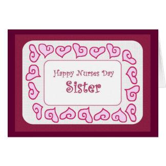 SISTER - Happy Nurses Day Customizable Card