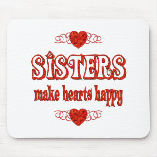 Sister Hearts Mouse Pad