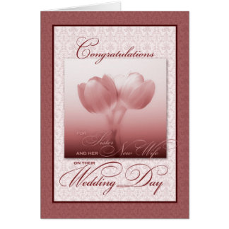 Sister & her New Wife Wedding Congratulations Greeting Card