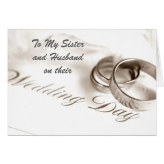 SISTER/HUSBAND ON WEDDING DAY CARD