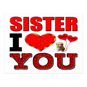 Thinking Of You Sister Cards Zazzle