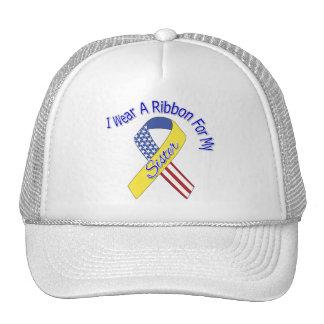 Sister - I Wear A Ribbon Military Patriotic Trucker Hat