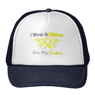 Sister - I Wear A Yellow Ribbon Military Support Trucker Hat