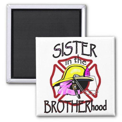 Sister in Brotherhood Refrigerator Magnets