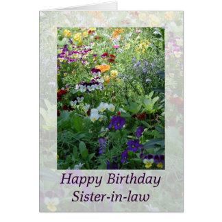 Sister-in-law Birthday Card by Janz
