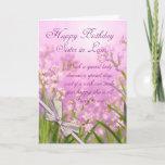 "Sister in Law Birthday Card - Pink Feminine Floral<br><div class=""desc"">Sister in Law Birthday Card - Pink Feminine Floral With Verse</div>"
