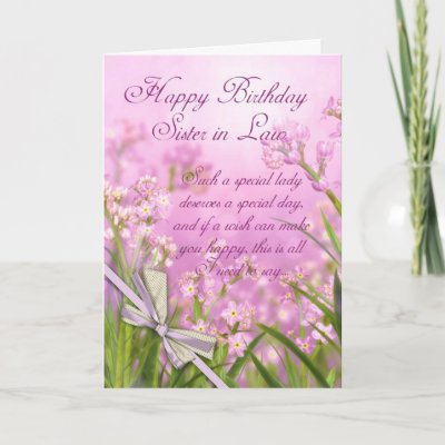 Sister In Law Lily Birthday Greeting Card Zazzle