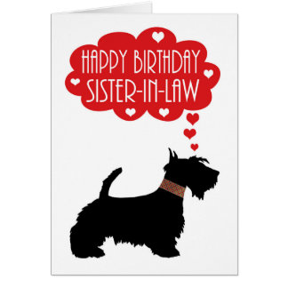 Sister-in-Law Birthday With Silhouette Scottish Card