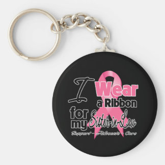 Sister-in-Law - Breast Cancer Ribbon Keychain
