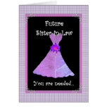 Sister-in-Law - Bridesmaid Customizable Card Greeting Card