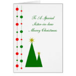 Sister-in-Law Christmas Card Christmas Trees