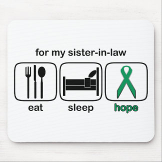 Sister-in-law Eat Sleep Hope - Kidney Cancer Mouse Pad