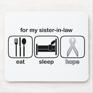 Sister-in-law Eat Sleep Hope - Lung Cancer Mouse Pad