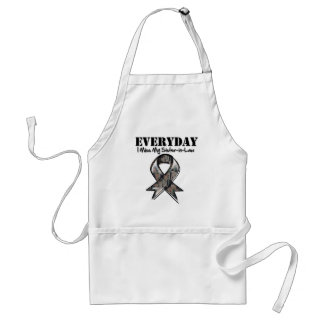 Sister-in-Law - Everyday I Miss My Hero Military Adult Apron